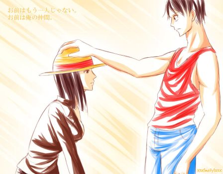 Luffy x Robin - You're not alone anymore by xox1melly1xox