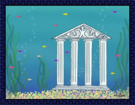 Melian Ocean Fish Tank with Border by MelianMarionette