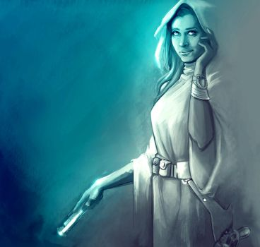 Carrie Fisher by Scary-Kittie