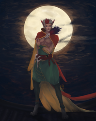 [COMMISSION] In The Moonlight by wataboo777