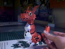 Guilmon papercraft WIP by Marlous2604