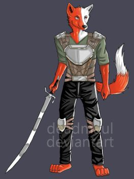 Fox warrior (Commission) by DeadMaul