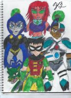 The Teen Titans by TheZackBurg