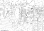 Lineart: Magic Shop by Vylla