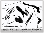 18 paint splash brushes by yunyunsarang