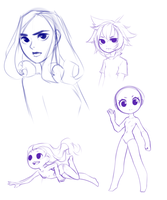 Late night sketches by Saige199