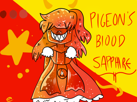 Pigeon's Blood Sapphire by Mashi0