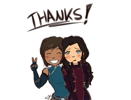 Korrasami Thanks by swiftwingOC95