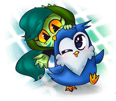 Chibi Khill and T.I.P by Oceanegranada