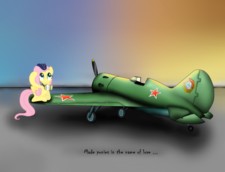 Fluttershy and I-16. by Filincool