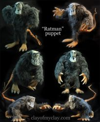 Ratman Puppet by Clayofmyclay