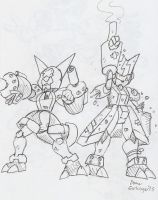 Medabots: Cyandog and Krosserdog by BlueIke
