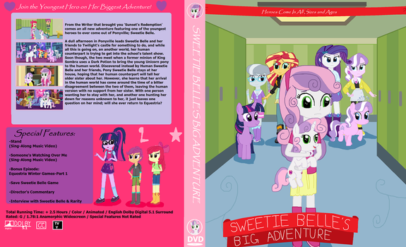 Fantasy DVD Cover - Sweetie Belle's Big Adventure by ThomasZoey3000