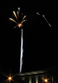 Firework with Added Stars IMG 0842 by TheStockWarehouse