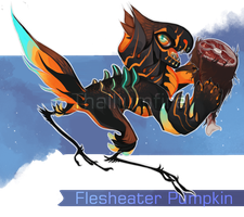 Flesheater Pumpkin by NebNomMothership