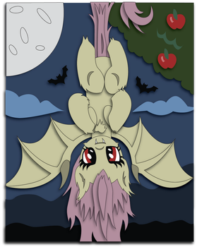 Shadowbox Mockup:  Flutterbat by The-Paper-Pony