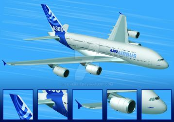 Airbus A380 by Silver911
