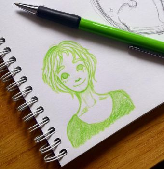 Small green bean by frohzen-air
