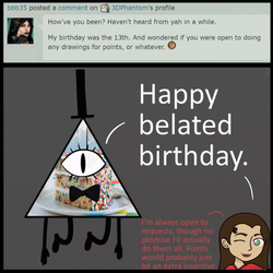 #14 - Ask Bill Cipher! - Happy Belated Birthday by 3DPhantom