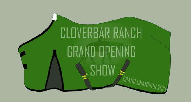 CBR Grand Opening Show Blanket by HorseGalMK