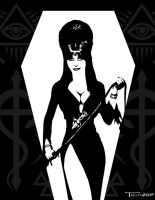Elvira Midnight Queen by Tom Kelly by TomKellyART