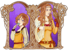 - COMMISSION - Calaan child ans adult - by ooneithoo