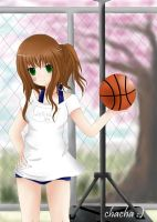 Lollita with basketball by chalollita