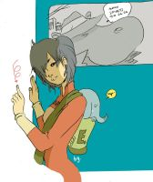 Miki and the Elephantmang by royalboiler
