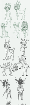 Deer Changeling Demon Concept Parade! by Amelius