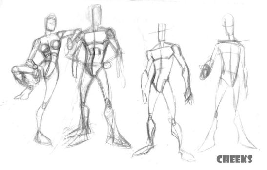 character concept pose roughs by cheeks-74