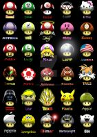 Super Mario Shrooms by MyBurningEyes