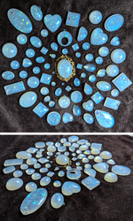 Moonstone/Opal resin batch by LorienInksong