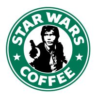 Starbucks Han Solo by theCrow65