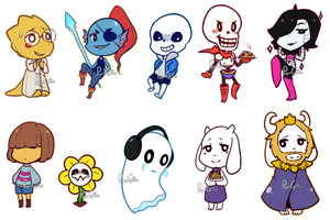 Undertale Characters by PaperCactus