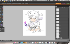 Welcome Chibi WIP by PyoPop