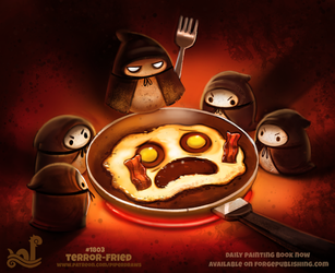 Daily Paint 1803# Terror-fried by Cryptid-Creations