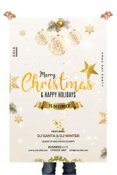 Christmas and Holiday Free PSD Flyer Template by pixelsdesign-net
