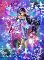 Snow Melody by Galistar07water
