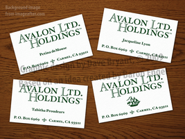 Avalon Ltd. Holdings cards by Catspaw-DTP-Services