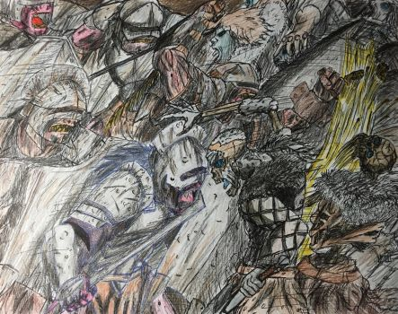 Uruk Hai vs the Army of the Dead by Cromwell300