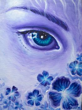 The eye of spring watching the violet flowers by CORinAZONe