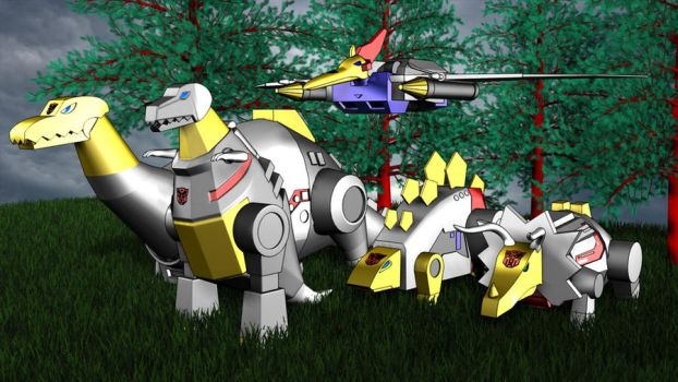 The Dinobots are ready by XSilverboltX
