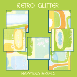 Retro Glitter textures by happyduster