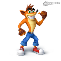 Crash Bandicoot Smashified Transparent by Sean-the-Artist