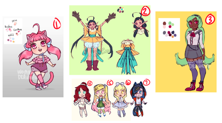 Various Adopts [OPEN 7/7] by wombodrawnbo