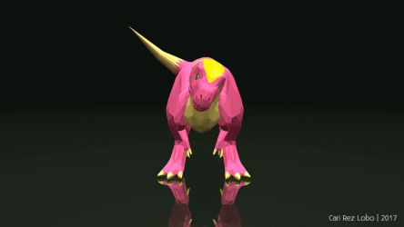 Carolzilla's Low-poly T. rex Character Turntable by Cari-Rez-Lobo