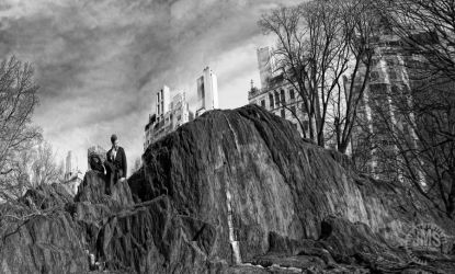 Man on the Rocks in the Park by steeber