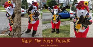 Marie the Foxy Fursuit! by PudgeyRedFox