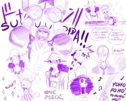 One Piece Sketch Madness Again by Smudgeandfrank