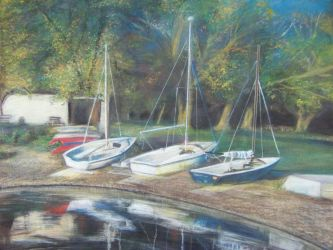 Peace Valley Park Boats by plasmahermit